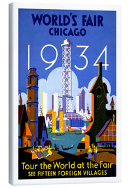 Lienzo  Chicago - Worlds Fair 1934 - Travel Collection