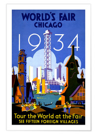 Póster  Chicago - Worlds Fair 1934 - Travel Collection