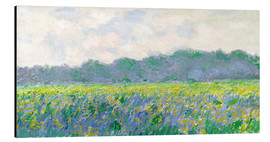 Cuadro de aluminio  Field of Yellow Irises in Giverny - Claude Monet