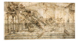 Metacrilato  Perspective Study for the background of the Adoration of the Magi - Leonardo da Vinci