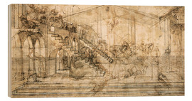 Madera  Perspective Study for the background of the Adoration of the Magi - Leonardo da Vinci