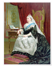 Póster Portrait of Queen Victoria on her Golden Jubilee