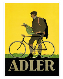 Póster Adler Bicycles