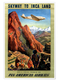 Póster  Skyway to Inca Land - Travel Collection