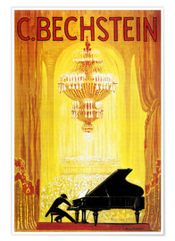 Póster  exposition - C. Bechstein - Advertising Collection