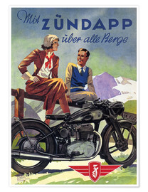 Póster  With Zündapp over the hills