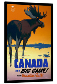 Cuadro de aluminio  Canada - big game - Travel Collection
