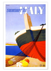 Póster Summer in Italy