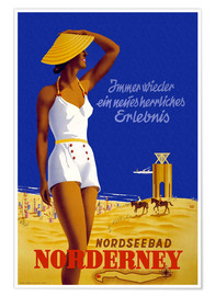 Póster  North Sea resort of Norderney