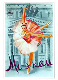 Póster  Moscow - Russian ballet