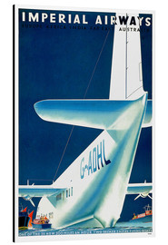 Cuadro de aluminio  Imperial Airways - seaplane
