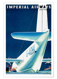 Póster Imperial Airways - seaplane