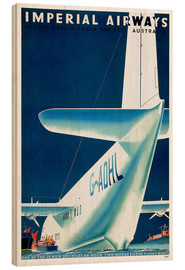 Cuadro de madera  Imperial Airways - seaplane - Travel Collection