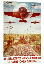 Cuadro de metacrilato  Aircraft parade on Moscow - Advertising Collection