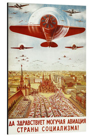 Cuadro de aluminio  Aircraft parade on Moscow - Advertising Collection