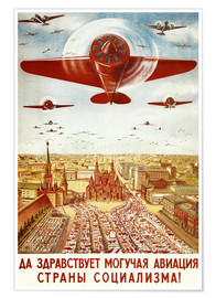 Póster Aircraft parade on Moscow