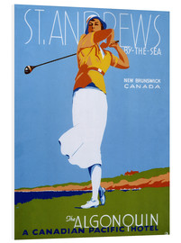 Cuadro de PVC  St. Andrews - Golf - Advertising Collection