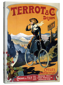 Lienzo  Terrot & Cie Dijon bicycles and motorcycles - Advertising Collection