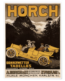 Póster  Horch cars - Golly impeccable - Advertising Collection