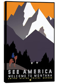 Lienzo  See America - Welcome to Montana - Travel Collection