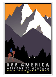 Póster  See America - Welcome to Montana - Travel Collection