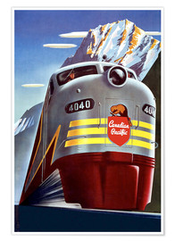 Póster Tren Canadian Pacific