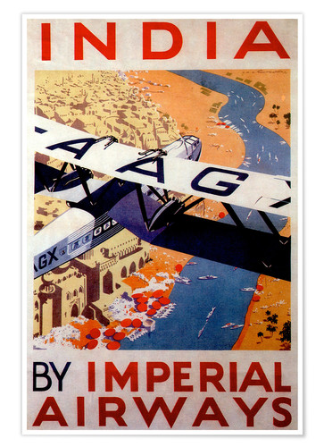 Póster India tour with Imperial Airways