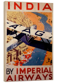 Cuadro de madera  India tour with Imperial Airways - Travel Collection