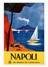 Póster  Nápoles, Italia - Travel Collection