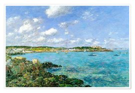 Póster  The Bay of Douarnenez - Eugène Boudin