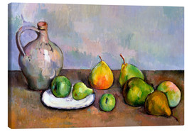 Lienzo  Pitcher and Fruit - Paul Cézanne