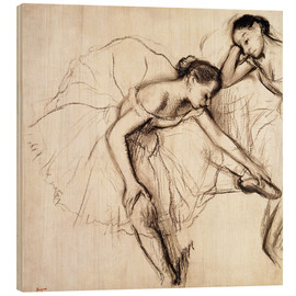 Madera  Two Dancers Resting - Edgar Degas