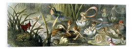 Cuadro de PVC  Water-Lilies and Water Fairies - Richard Doyle