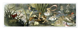 Póster  Water-Lilies and Water Fairies - Richard Doyle