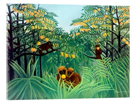 Metacrilato  Monkey in the jungle - Henri Rousseau