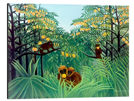 Aluminio-Dibond  Monkey in the jungle - Henri Rousseau