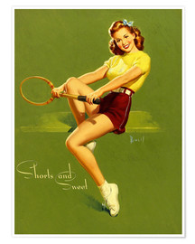 Póster  Pin Up - Shorts and Sweet - Al Buell