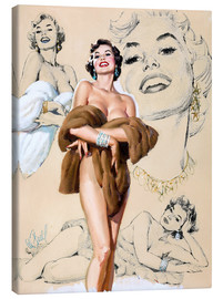 Lienzo  Glamour Pin Up - Al Buell