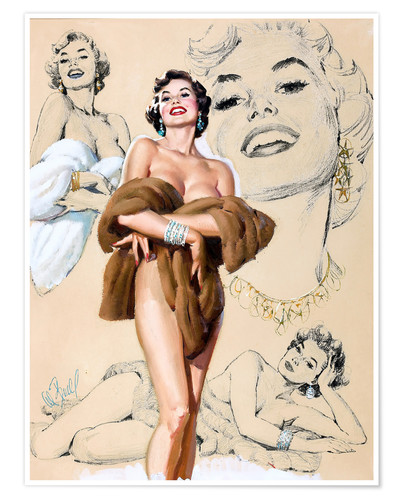 Póster Glamour Pin Up study