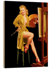 Cuadro de madera  Pin up with a color palette - Al Buell