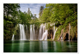 Póster  Paradise Waterfall in Plitvice - Andreas Wonisch