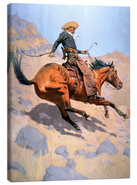 Lienzo  The Cowboy - Frederic Remington