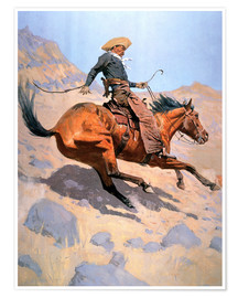 Póster  The Cowboy - Frederic Remington