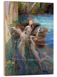 Cuadro de madera  Water Nymphs 1927 - Gaston Bussiere