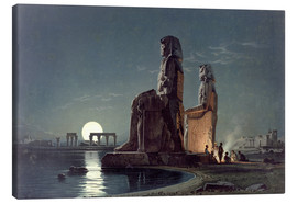 Lienzo  The Colossi of Memnon, Thebes - Carl Friedrich Heinrich Werner