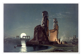 Póster  The Colossi of Memnon, Thebes - Carl Friedrich Heinrich Werner