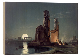 Cuadro de madera  The Colossi of Memnon, Thebes - Carl Friedrich Heinrich Werner