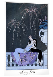 Cuadro de metacrilato  The Fire - Georges Barbier