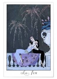 Póster  The Fire - Georges Barbier