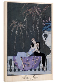 Cuadro de madera  The Fire - Georges Barbier